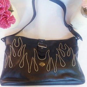 Harley Davidson Leather Handbag with Studs